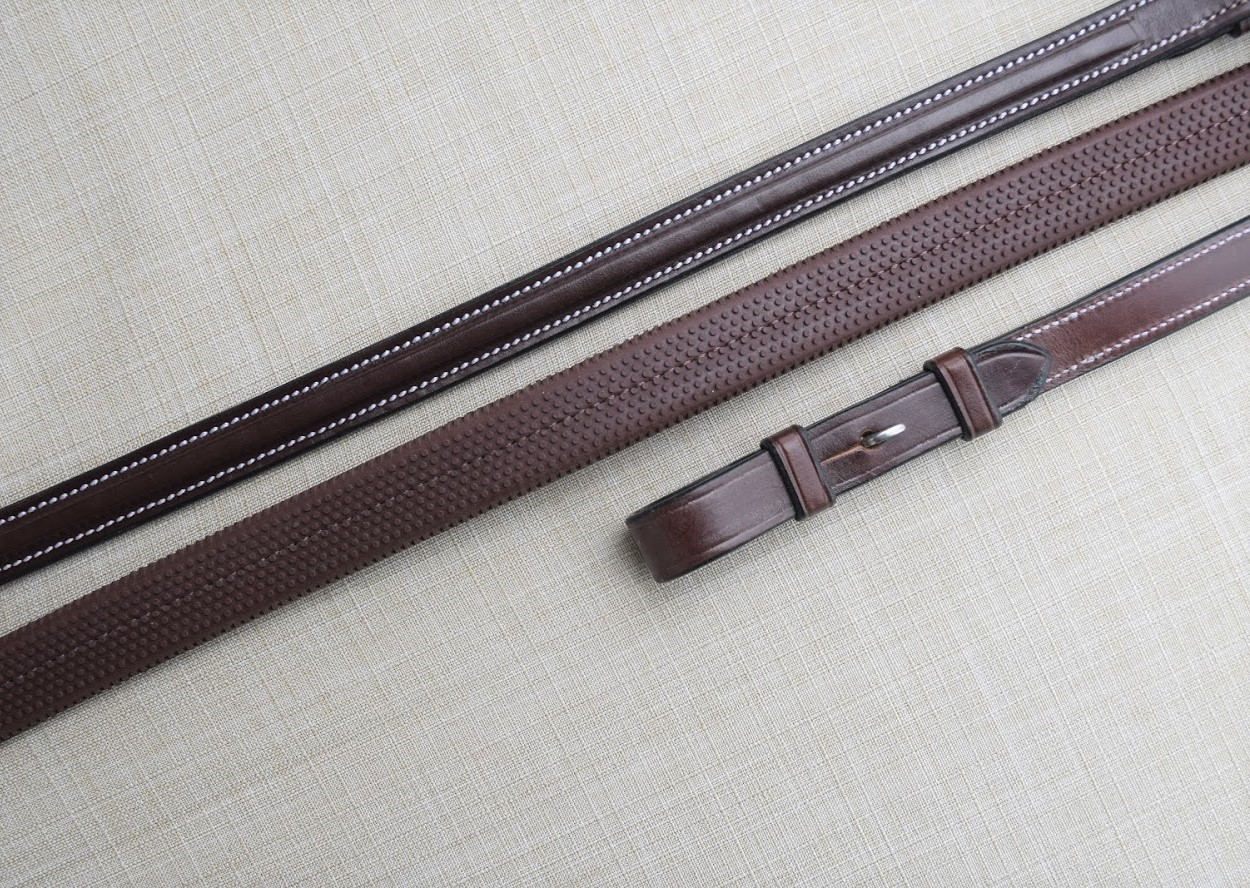 KL Select Red Barn Easy Grip Reins